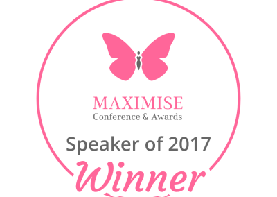 Awarded Speaker of the Year 2017