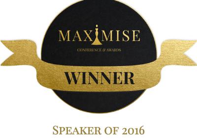 Awarded Speaker of the Year 2016