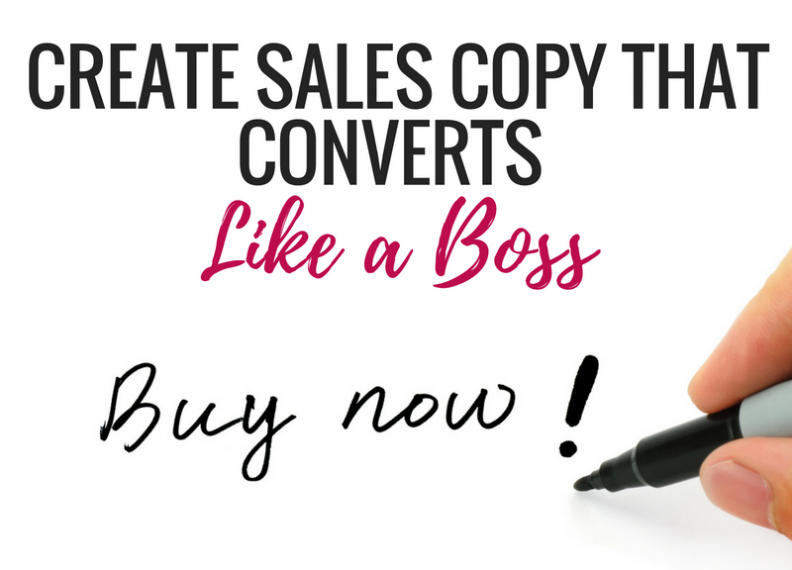Sales Page Copy that Converts